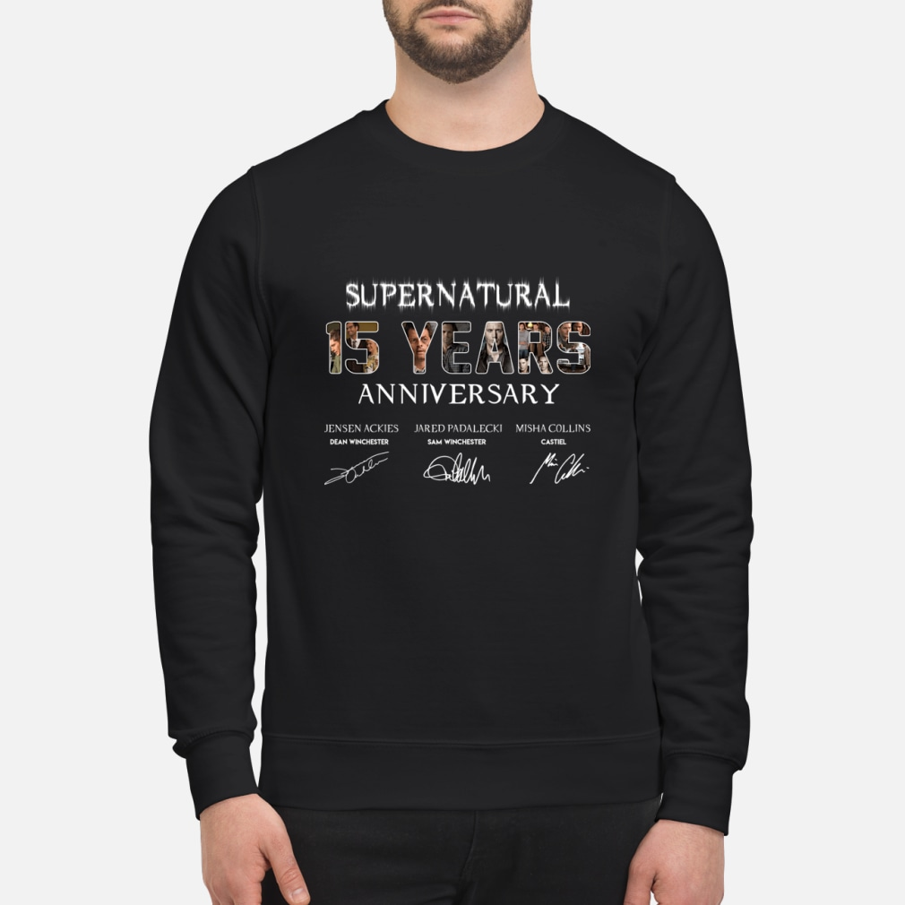 SuperNatural 15 years anniversary ladies shirt sweater