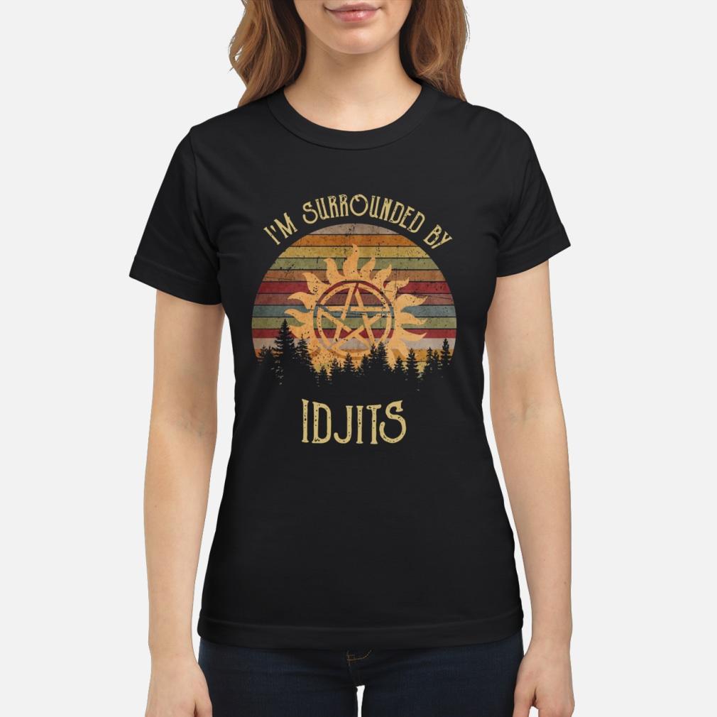 SuperNatural I'm Surrounded by IDJTS sunset retro shirt ladies tee