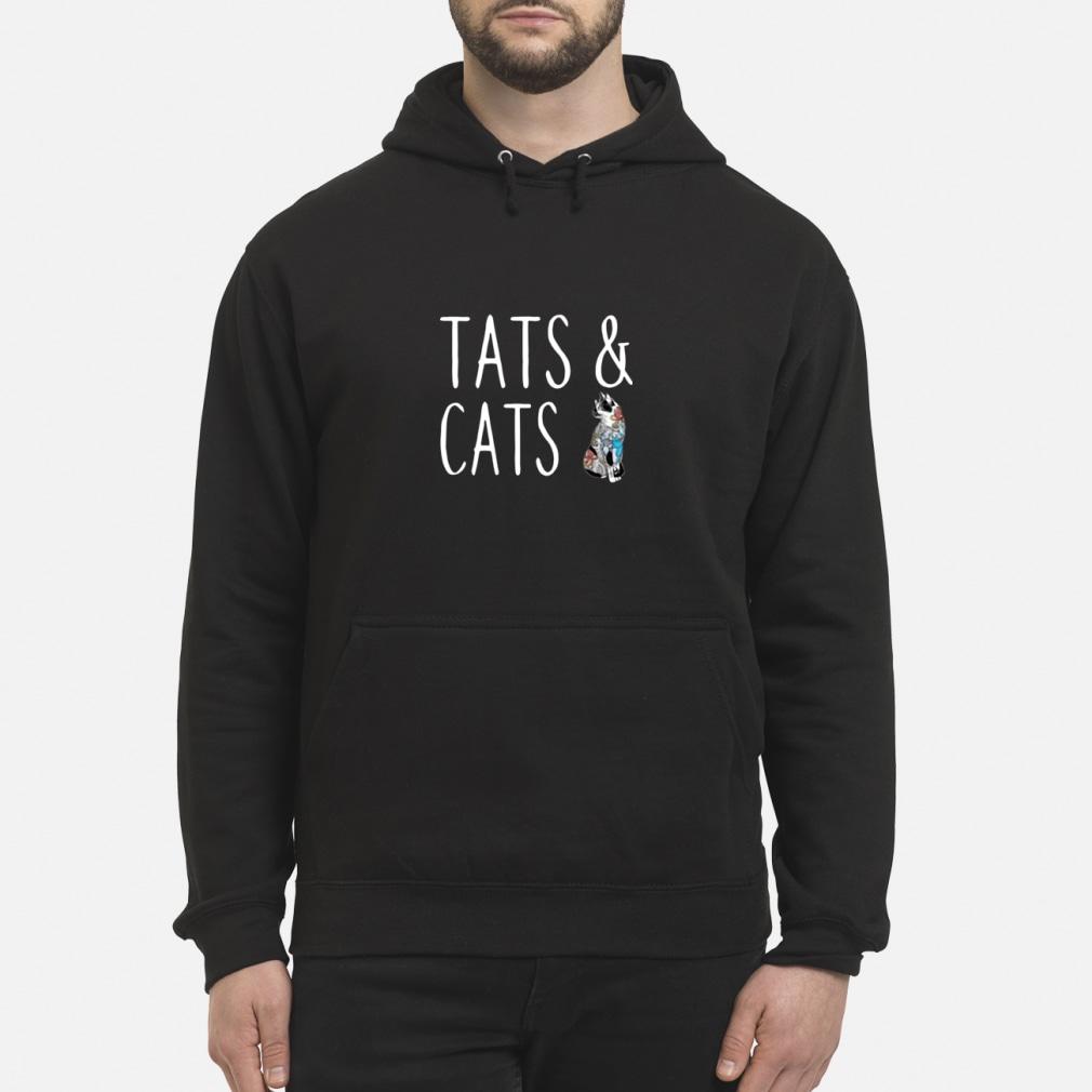Tats and cats tattoo ladies shirt hoodie