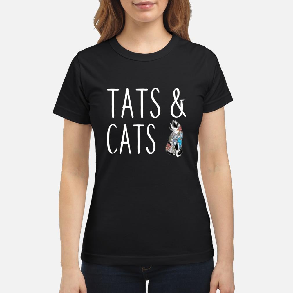 Tats and cats tattoo ladies shirt ladies tee