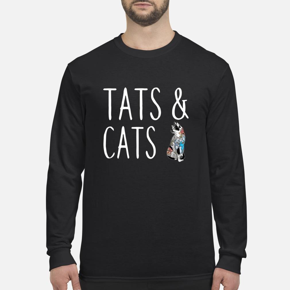 Tats and cats tattoo ladies shirt Long sleeved