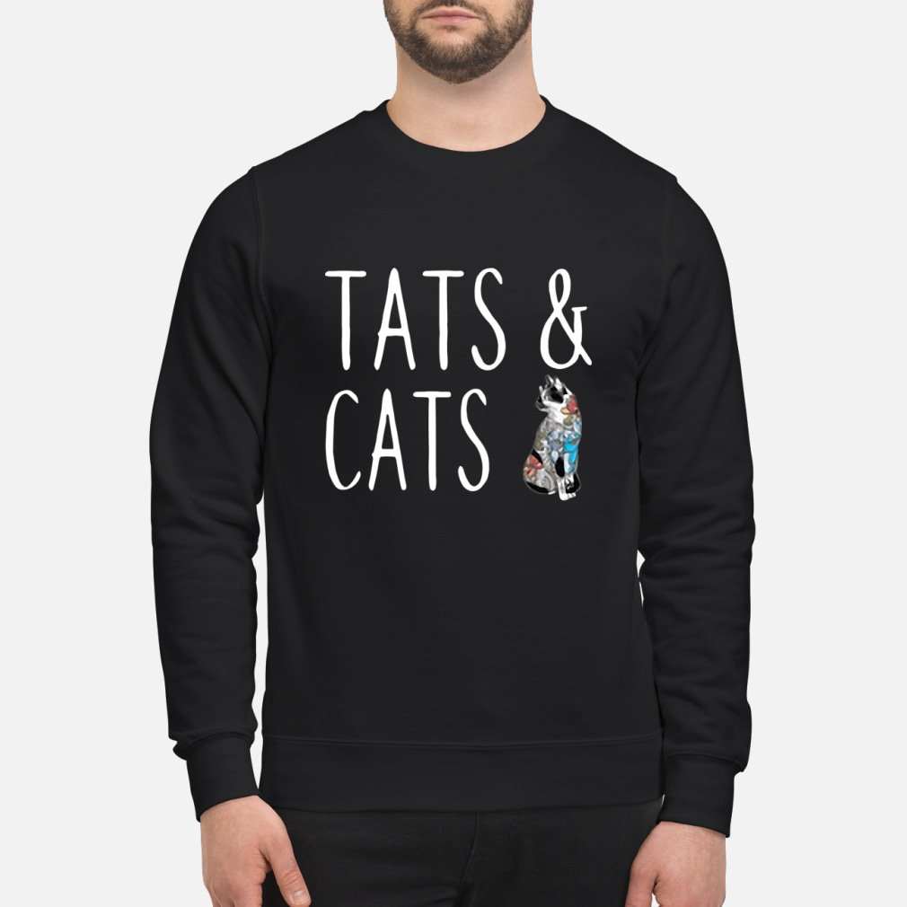 Tats and cats tattoo ladies shirt sweater
