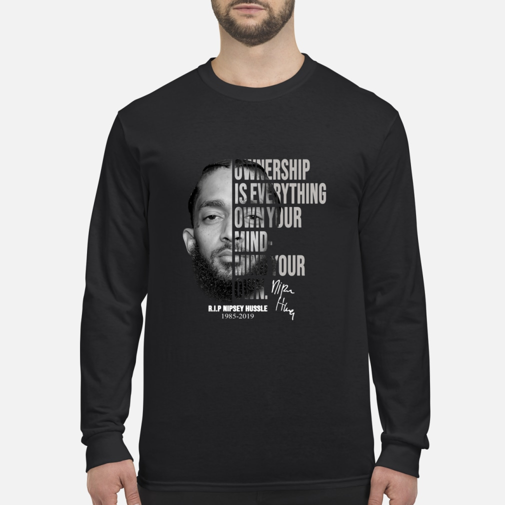 c26c47f5069b31 Thank You For The Memories Nipsey Hussle Shirt long sleeved