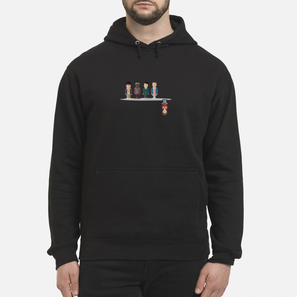 The upside down shirt hoodie