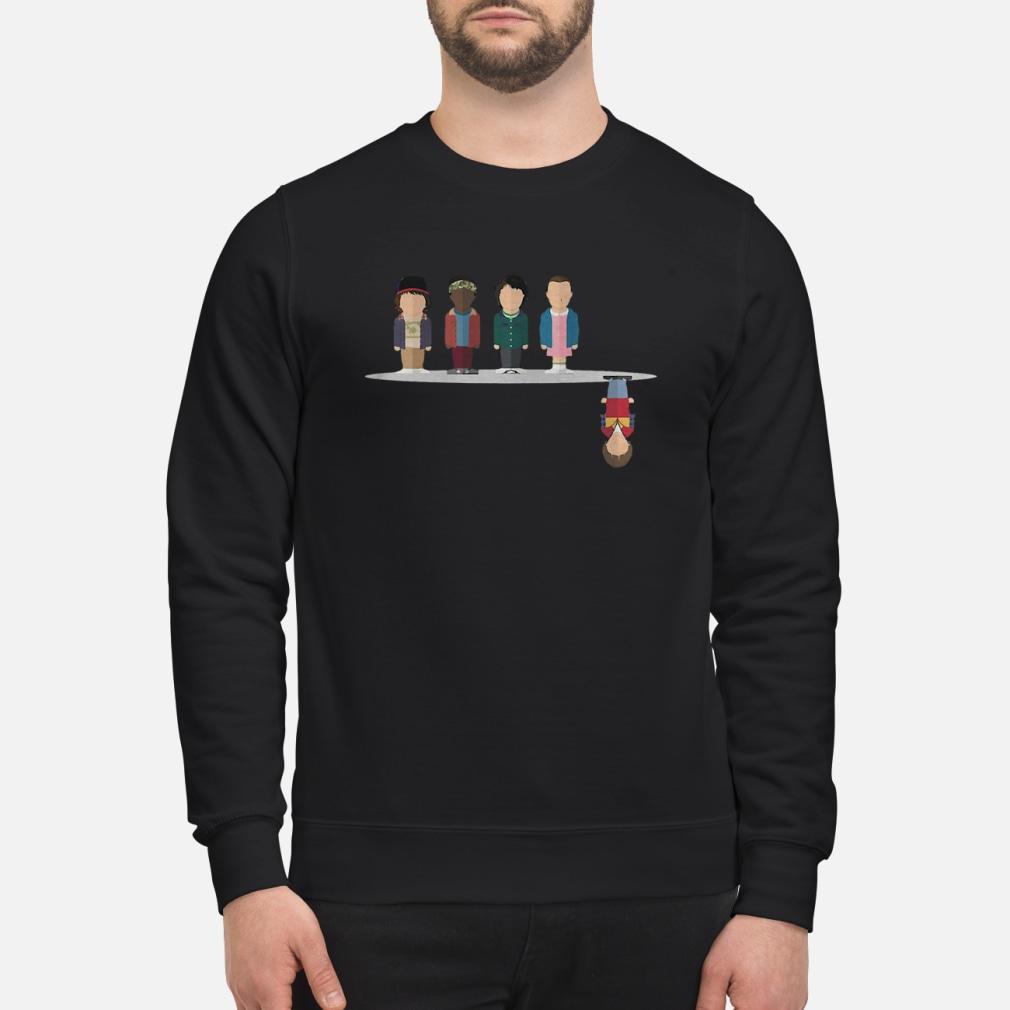 The upside down shirt sweater