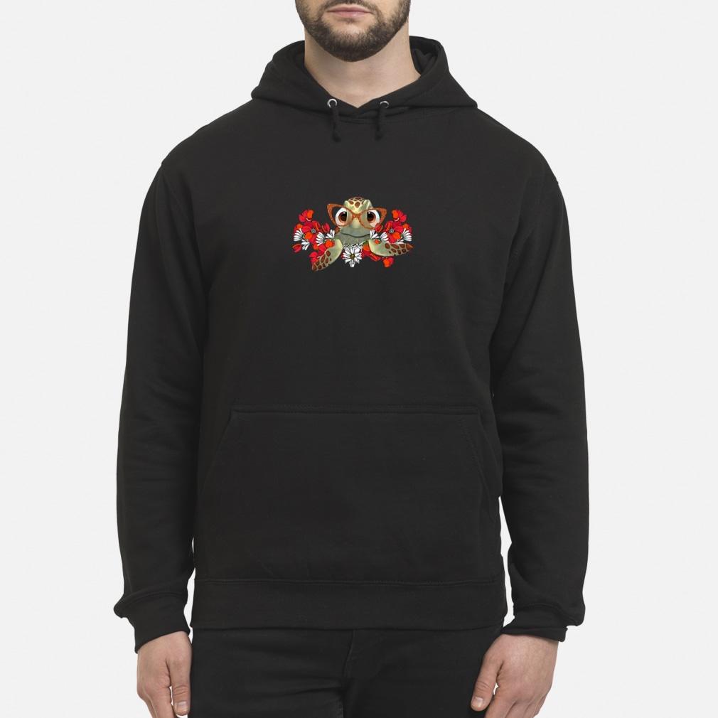 Turtle flower shirt hoodie