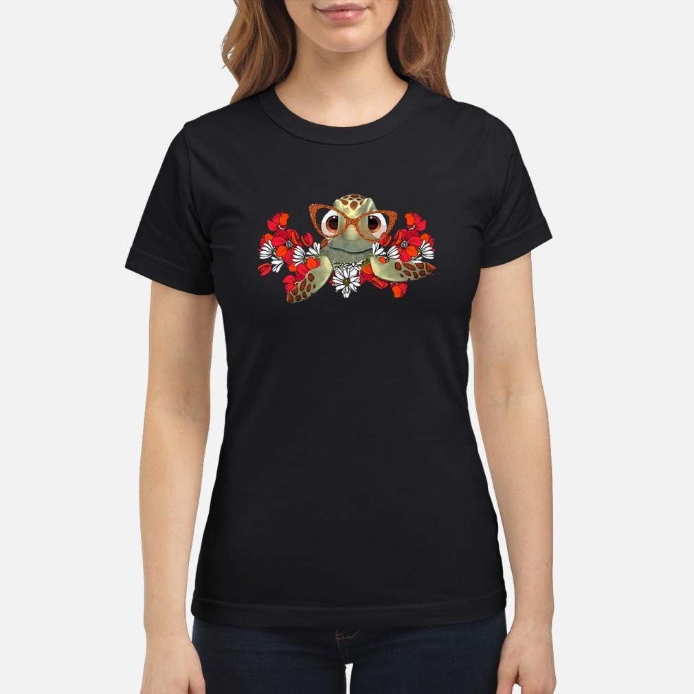Turtle flower shirt ladies tee