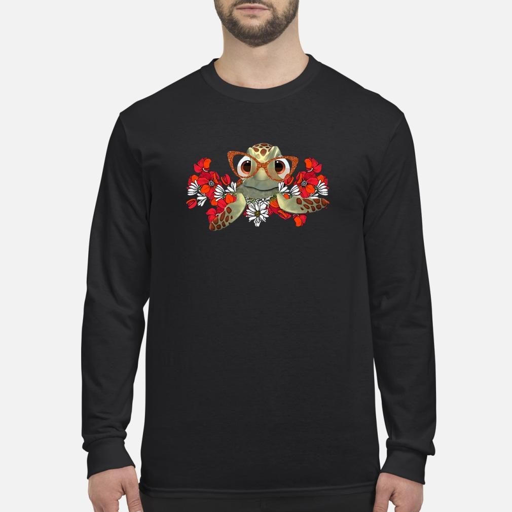 Turtle flower shirt Long sleeved