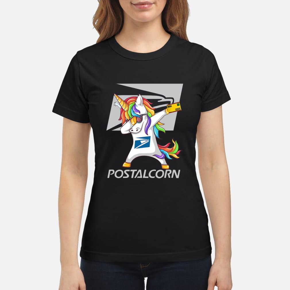Unicorn Dabbing postalcrn shirt ladies tee