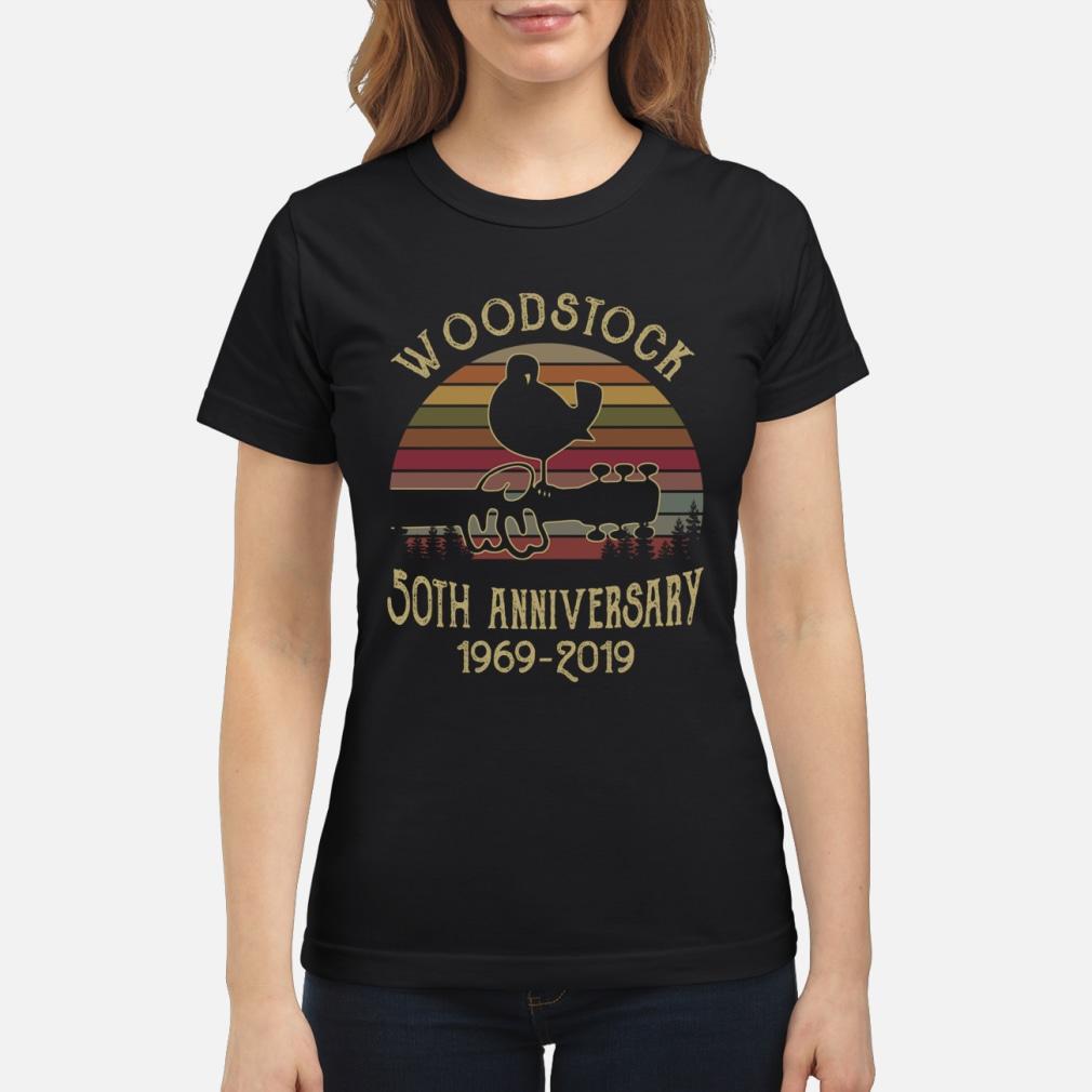 Woodstock 50th anniversary 1969-2019 shirt ladies tee