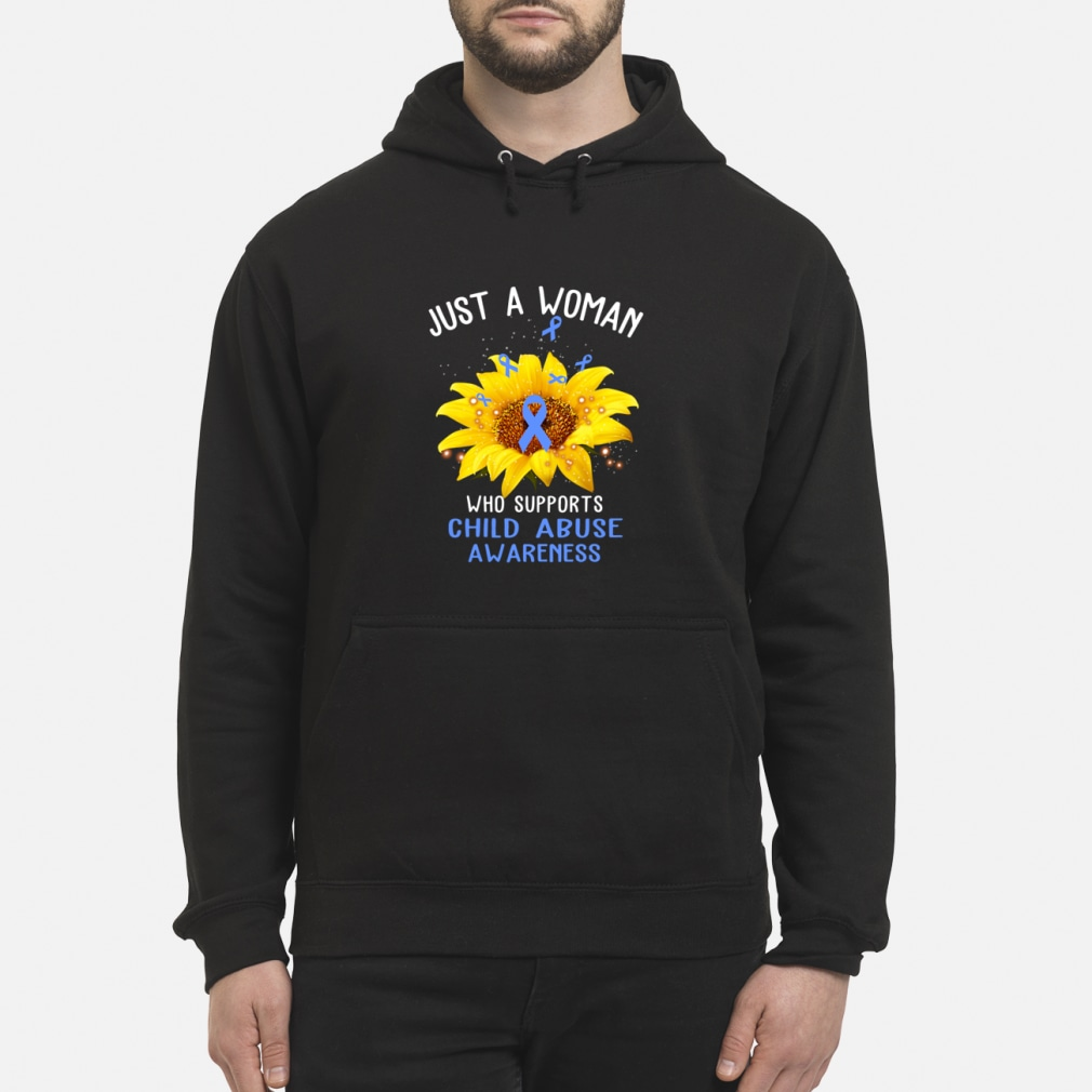 sunflower just a woman who supports child abuse awareness shirt hoodie