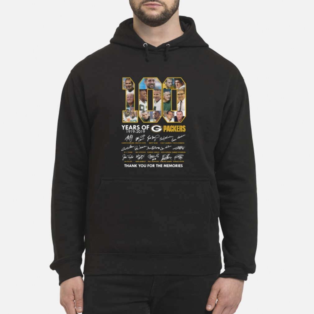 100 Years Of Green Packers Thank You For The Memories Shirt hoodie