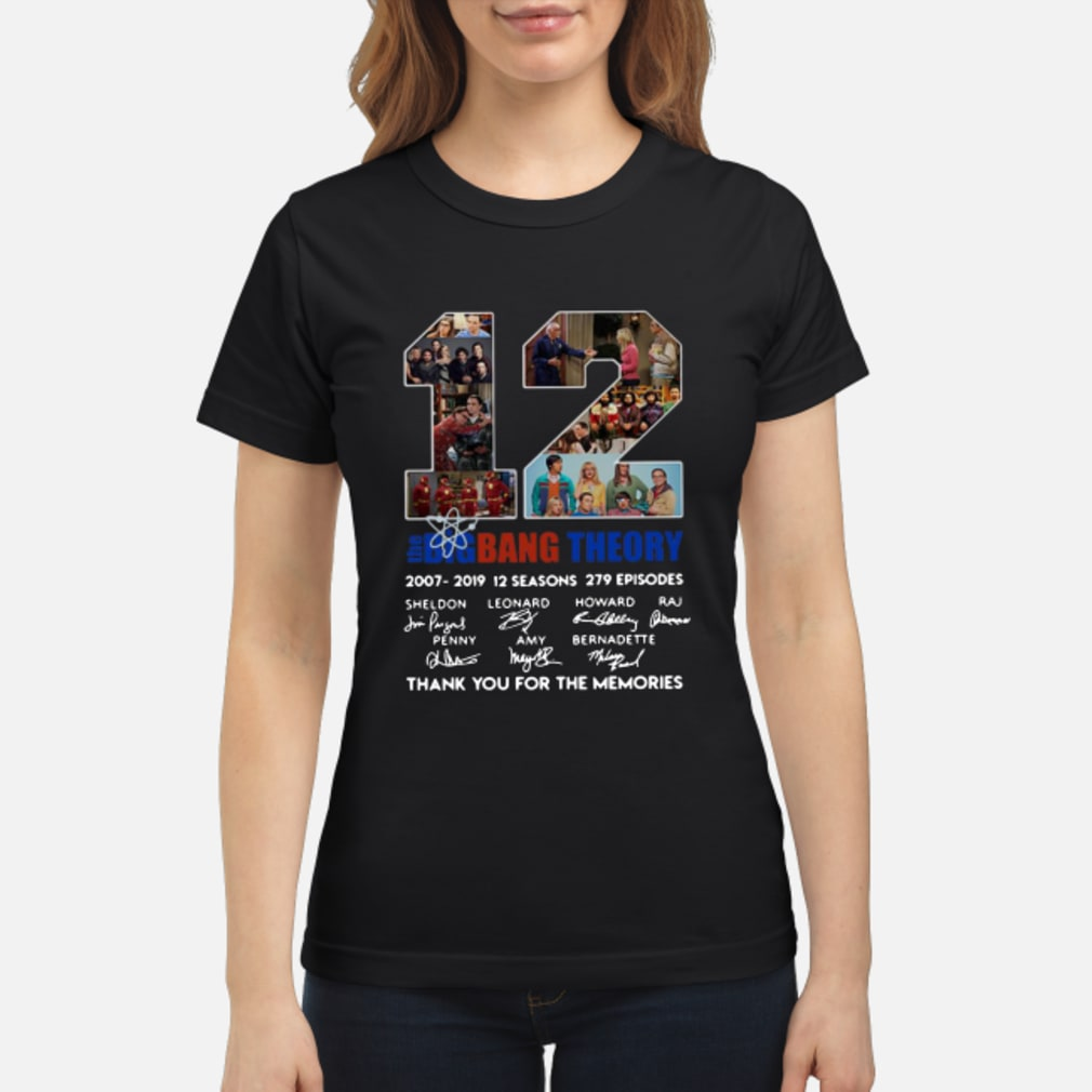 12 Years The Big Bang Theory Thank You For The Memories Shirt ladies tee