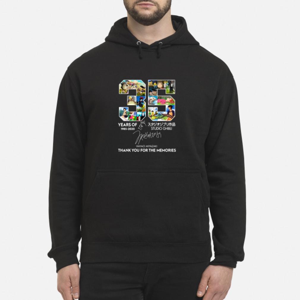 35 year of Studio Ghibli 1985-2020 Hayao Miyazaki Thank you for the memories shirt hoodie