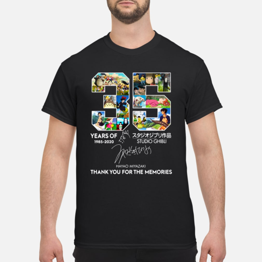 35 year of Studio Ghibli 1985-2020 Hayao Miyazaki Thank you for the memories shirt