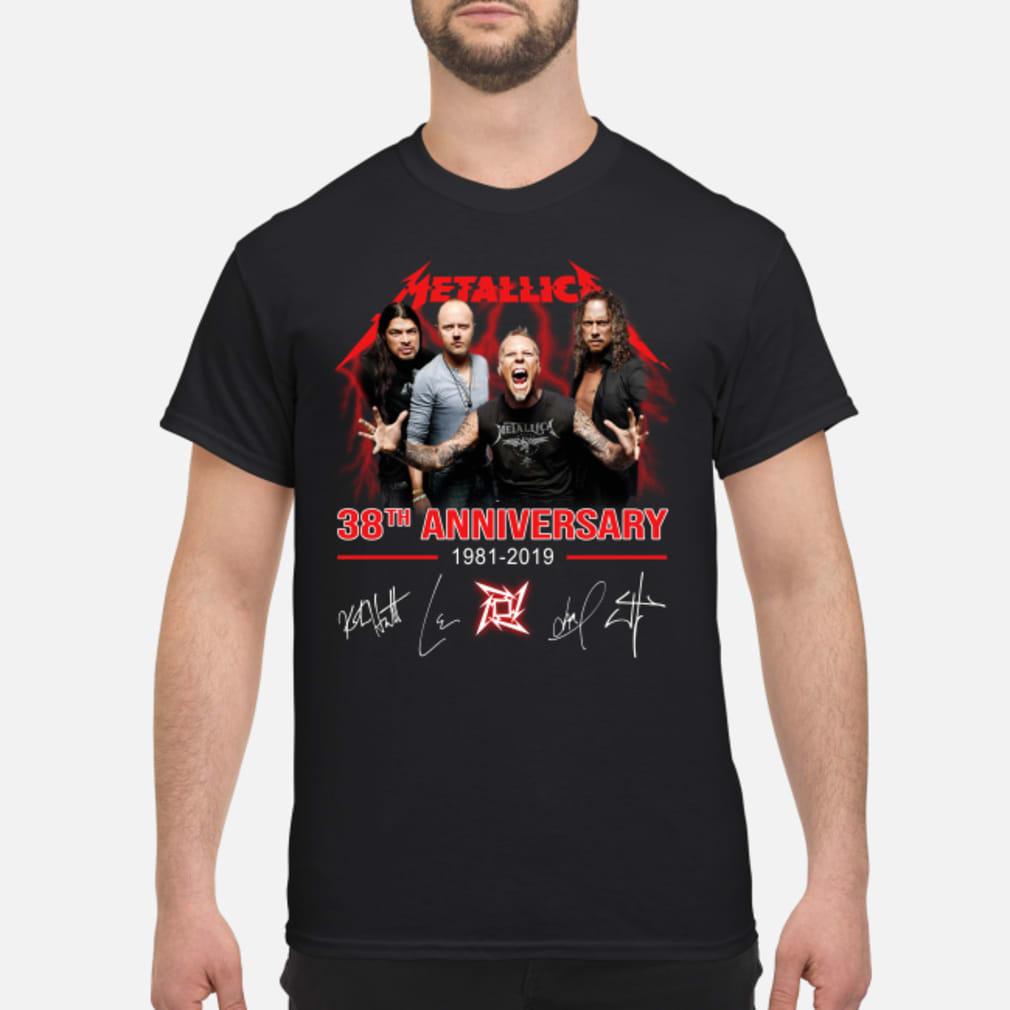 38th anniversary signatures shirt