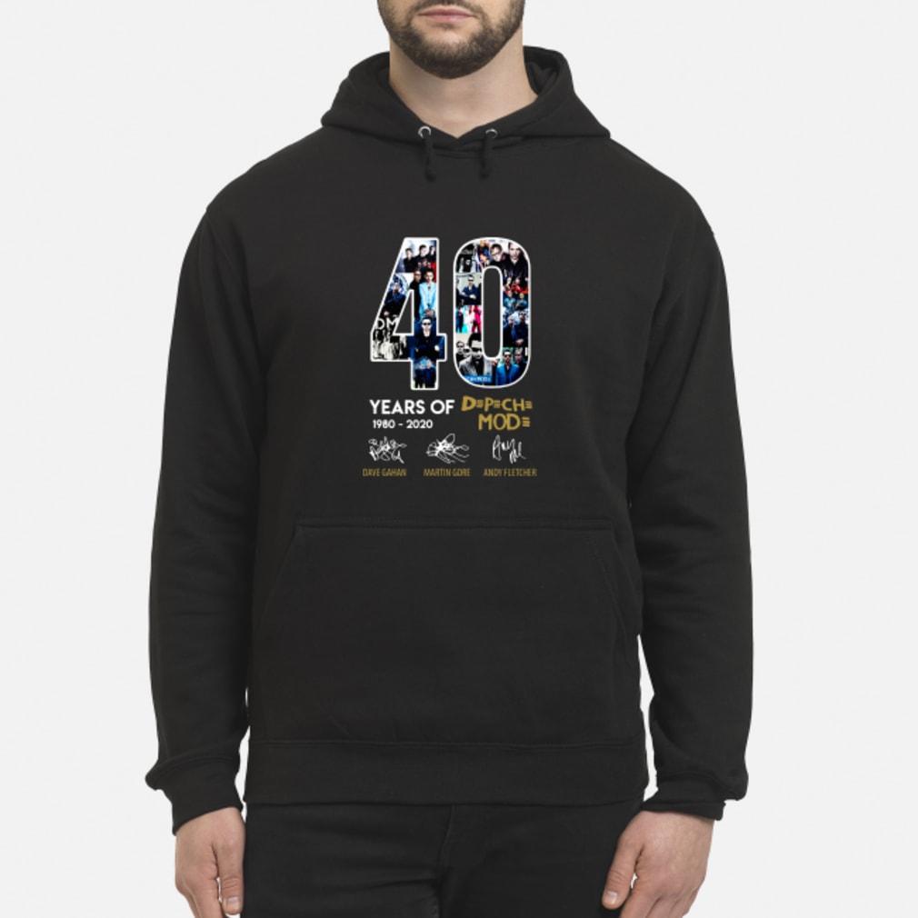 40 years of Depeche Mode signatures shirt hoodie