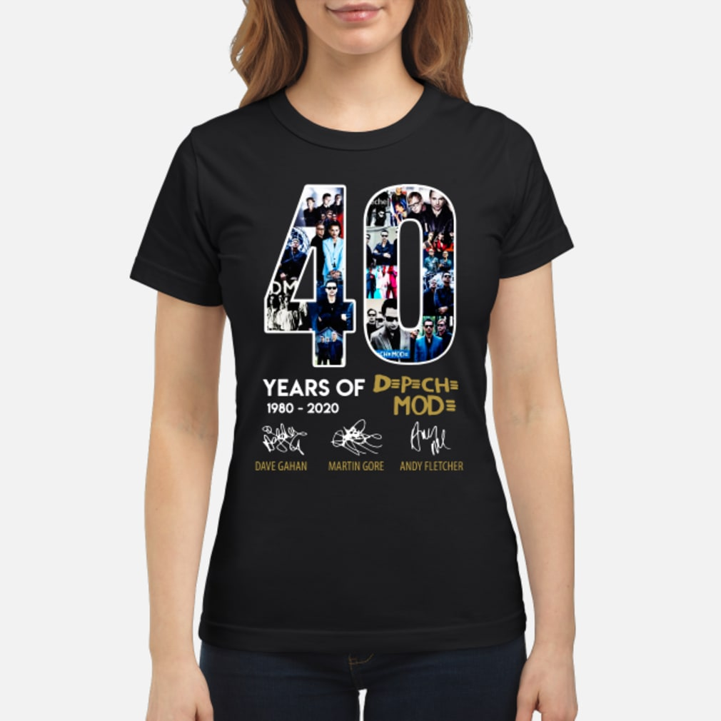 40 years of Depeche Mode signatures shirt ladies tee