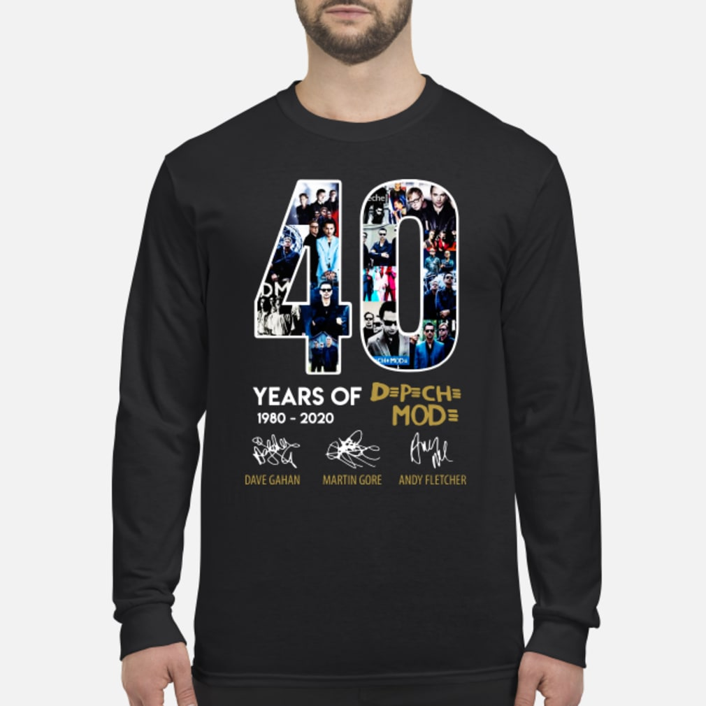 40 years of Depeche Mode signatures shirt Long sleeved