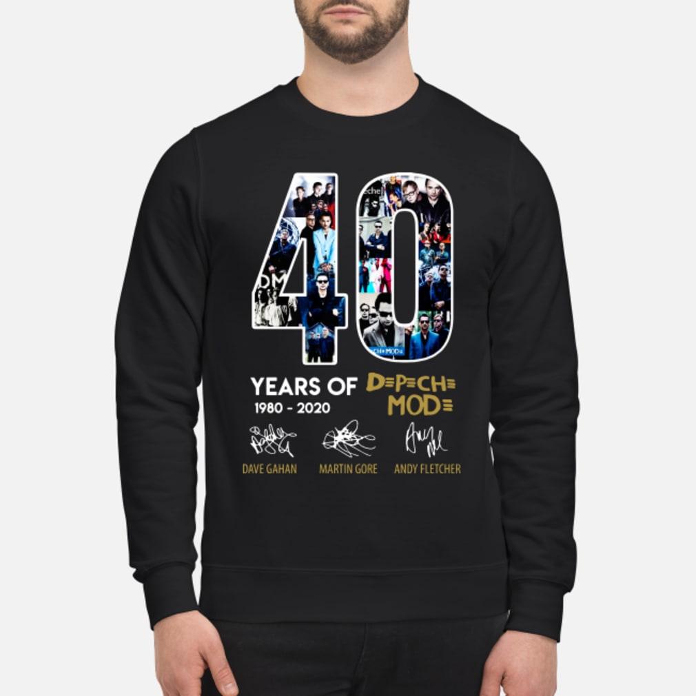 40 years of Depeche Mode signatures shirt sweater