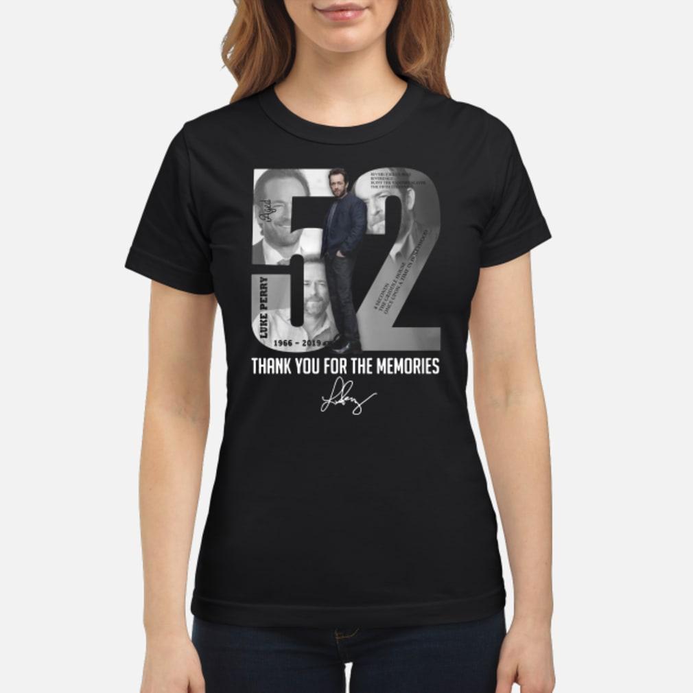 52 - Luke Perry shirt ladies tee