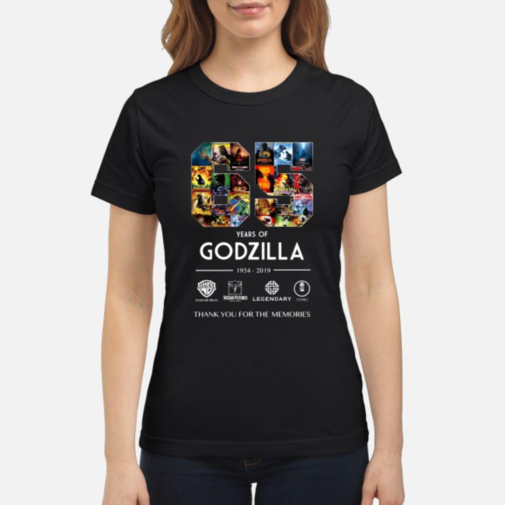 65th Years of Godzilla 1954-2019 shirt ladies tee