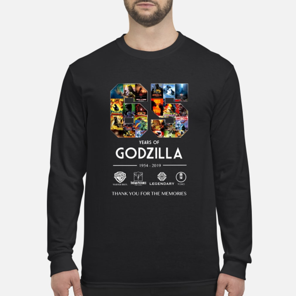 65th Years of Godzilla 1954-2019 shirt long sleeved