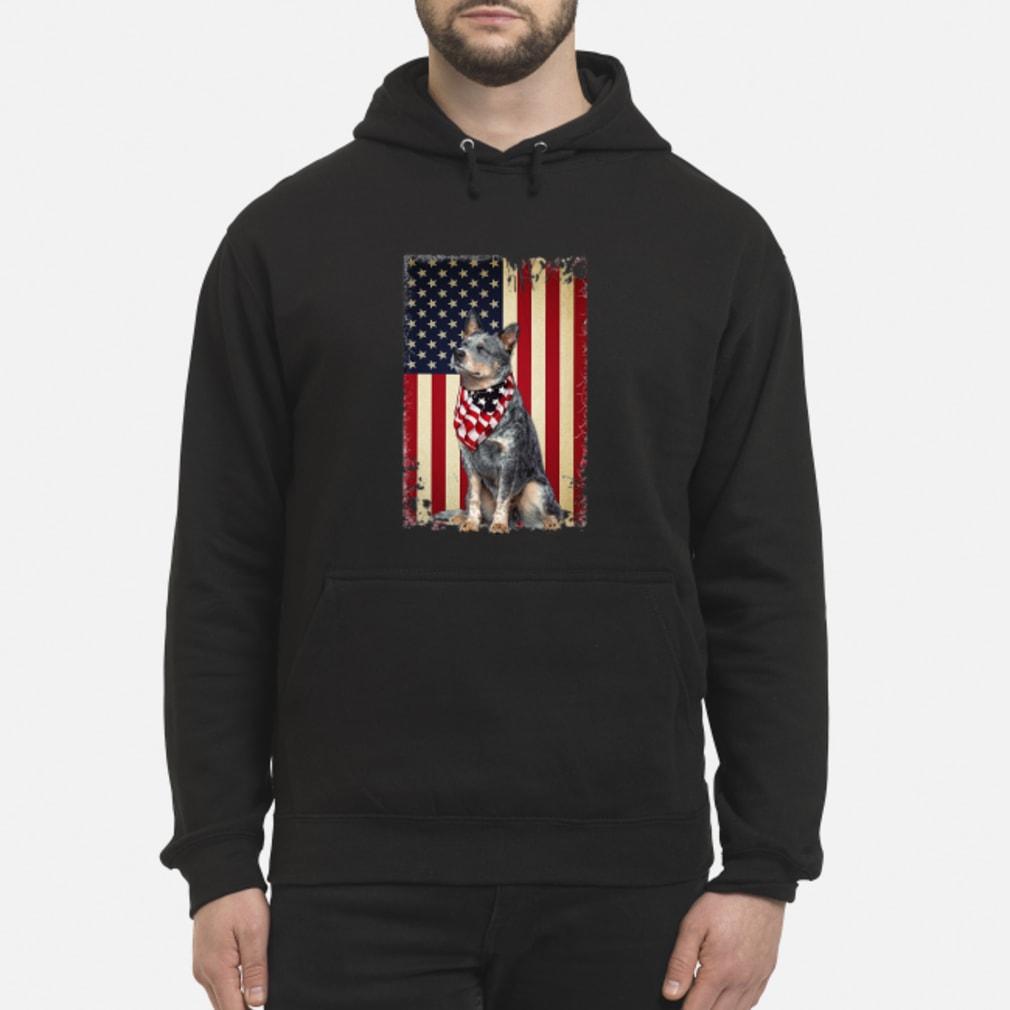 America flag dog shirt hoodie