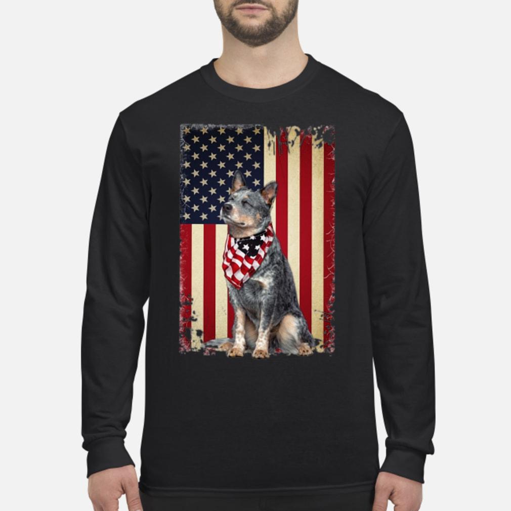 America flag dog shirt Long sleeved