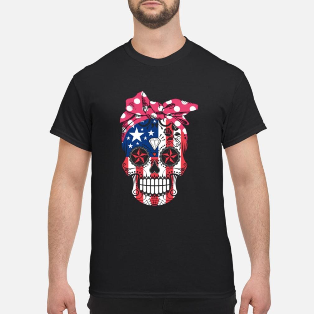 American Flag Sugar Skull Shirt