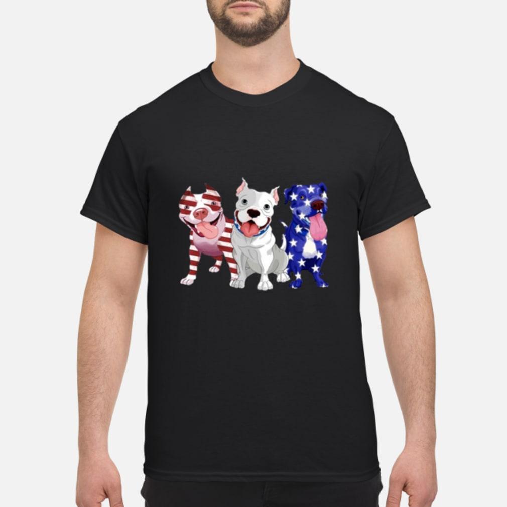 American three Pit Bull flag Shirt