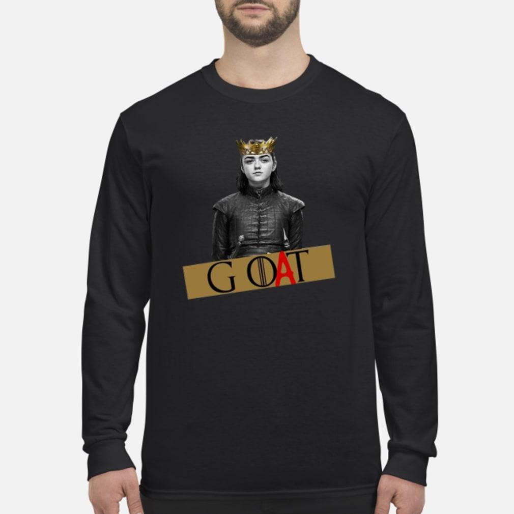 Arya Stark GOAT GOT Shirt Long sleeved