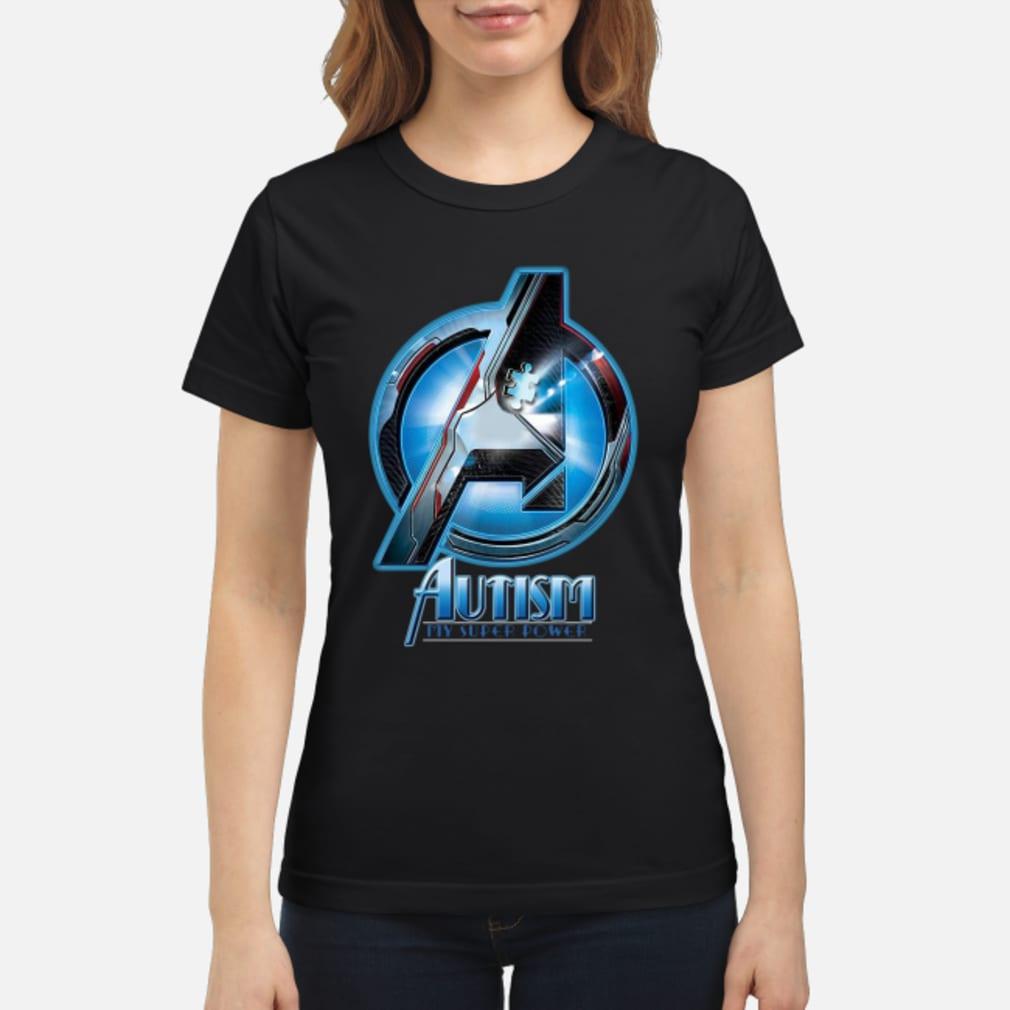 Avenger logo Autism my super power shirt ladies tee