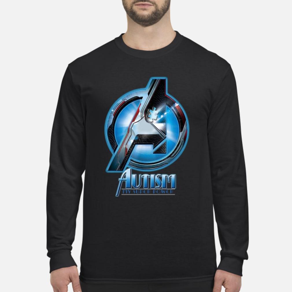 Avenger logo Autism my super power shirt Long sleeved
