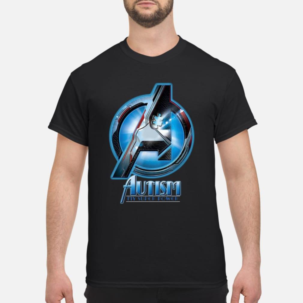Avenger logo Autism my super power shirt