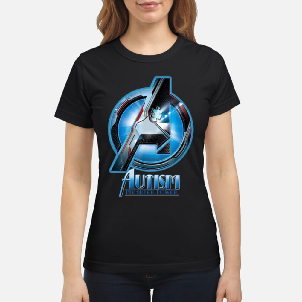 Avengers autism my super power shirt ladies tee