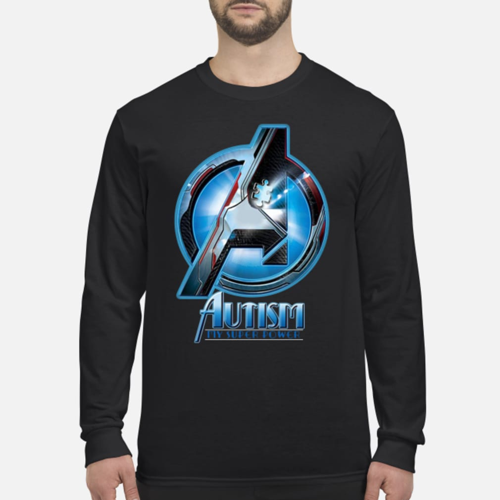 Avengers autism my super power shirt Long sleeved