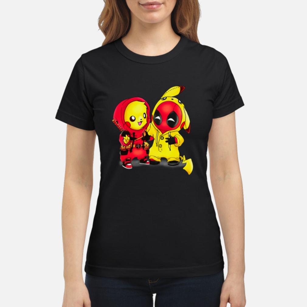 Baby Pikapool Pikachu Deadpool Mashup Detective Pikachu shirt ladies tee
