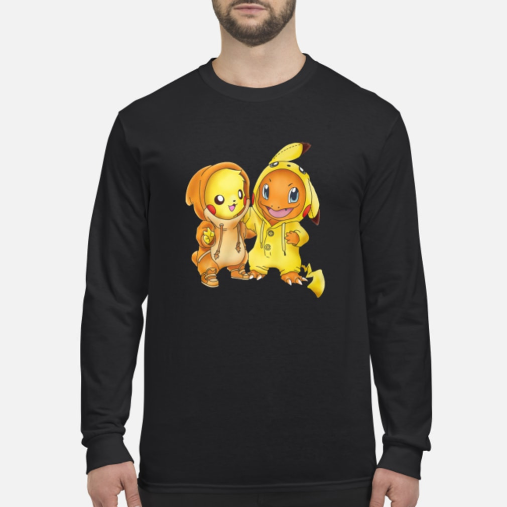 Baby pikachu hitokage charmander shirt Long sleeved