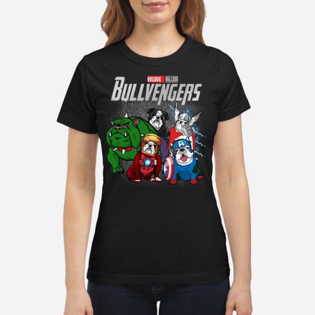 Bullvengers Bulldog shirt ladies tee