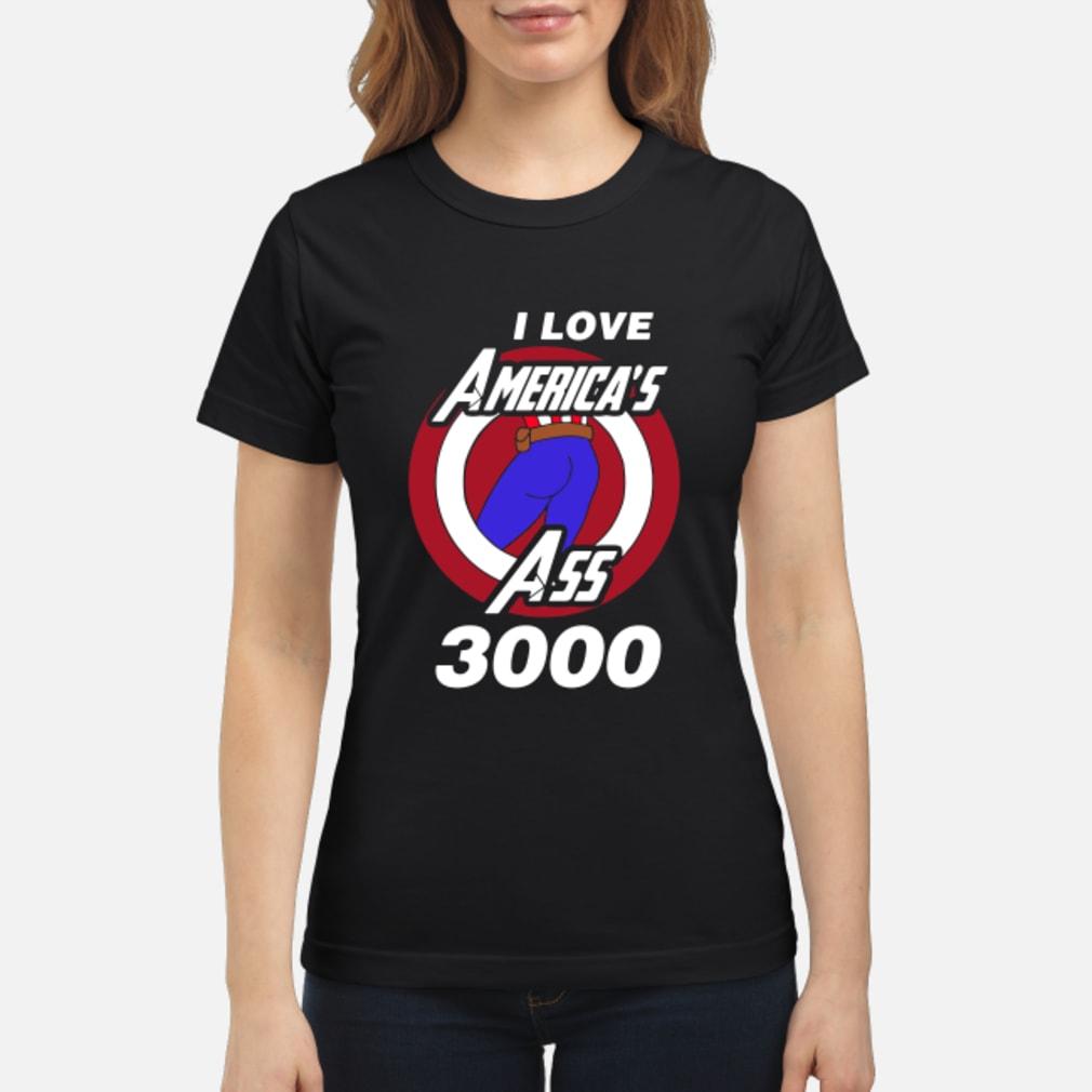 Captain America I love America's ass 3000 shirt ladies tee