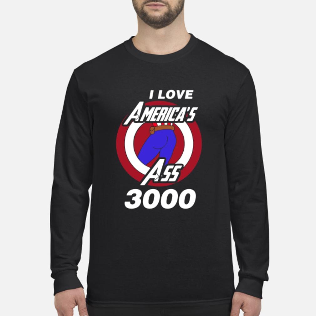 Captain America I love America's ass 3000 shirt Long sleeved