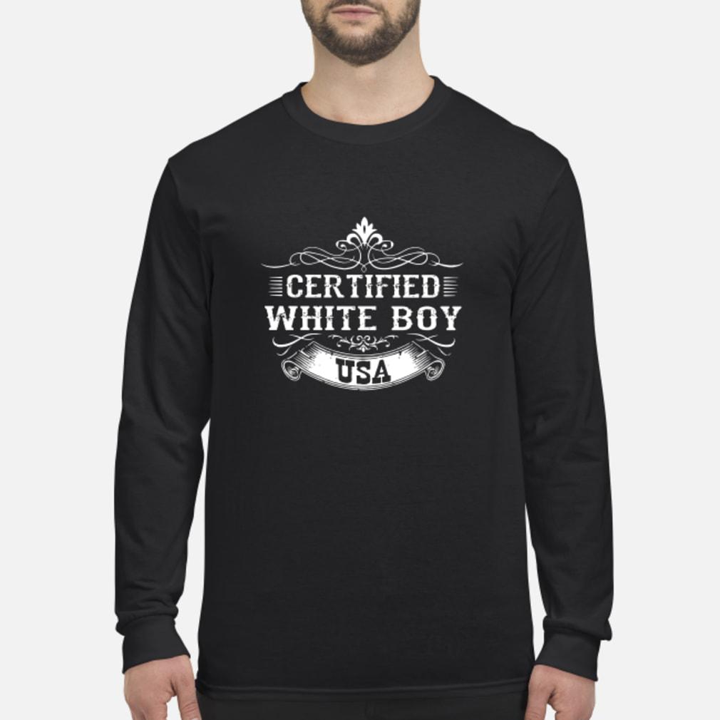 Certified whiteboy USA shirt Long sleeved