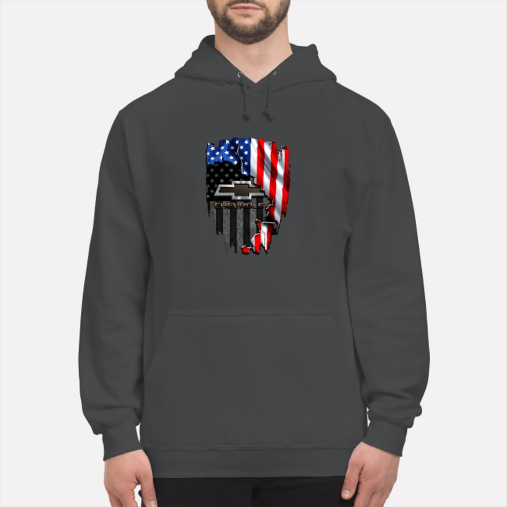 Chevrolet in the American flag shirt hoodie