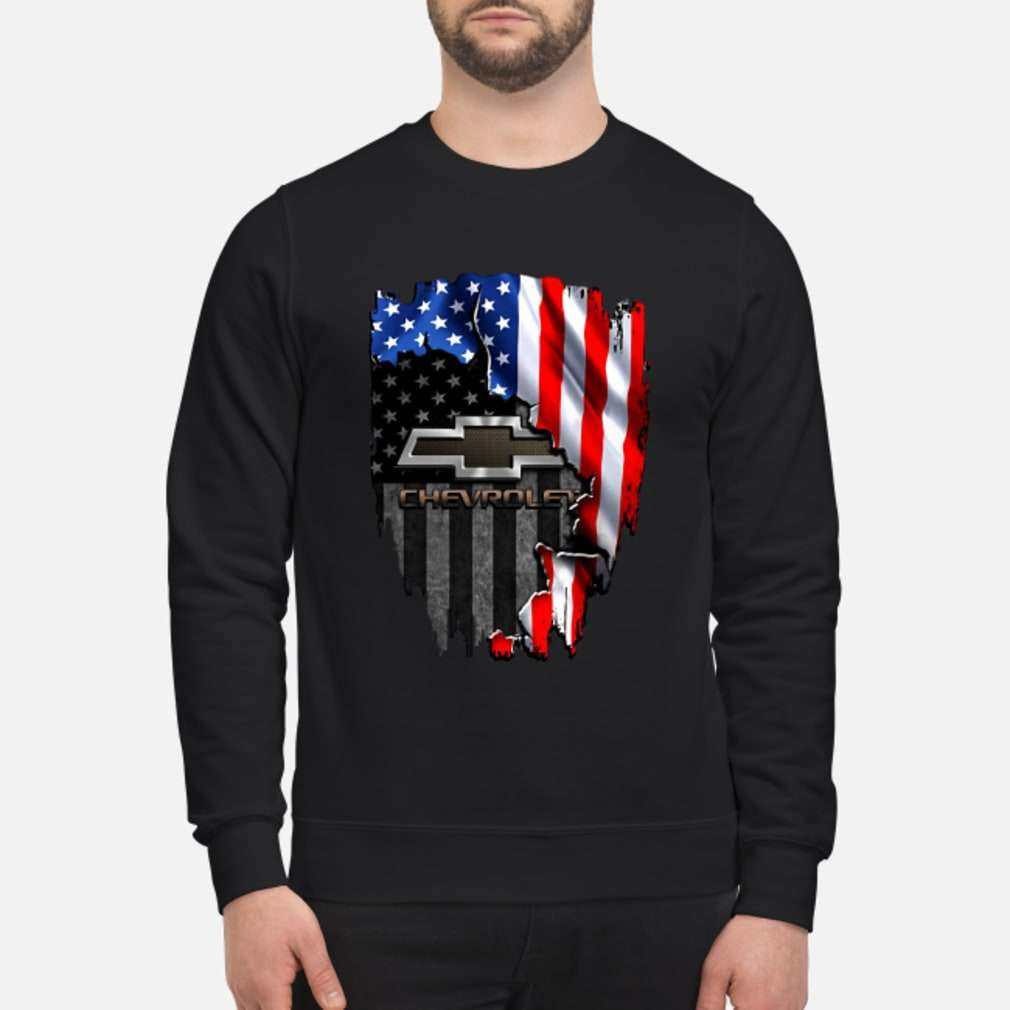Chevrolet in the American flag shirt sweater