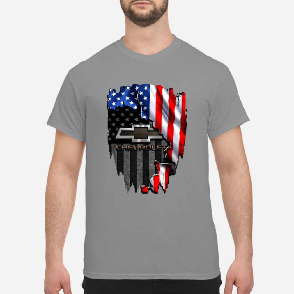 Chevrolet in the American flag shirt