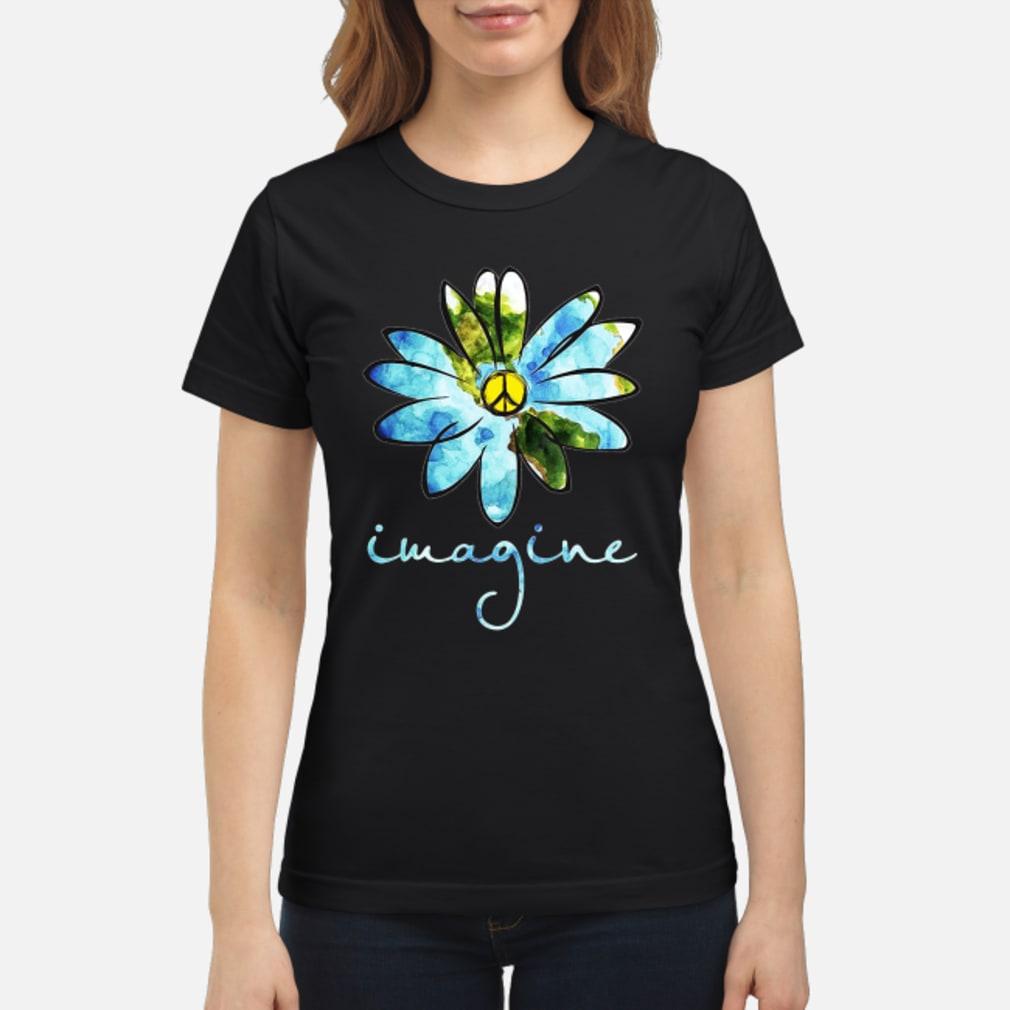 Daisy Earth Hippie imagine shirt ladies tee