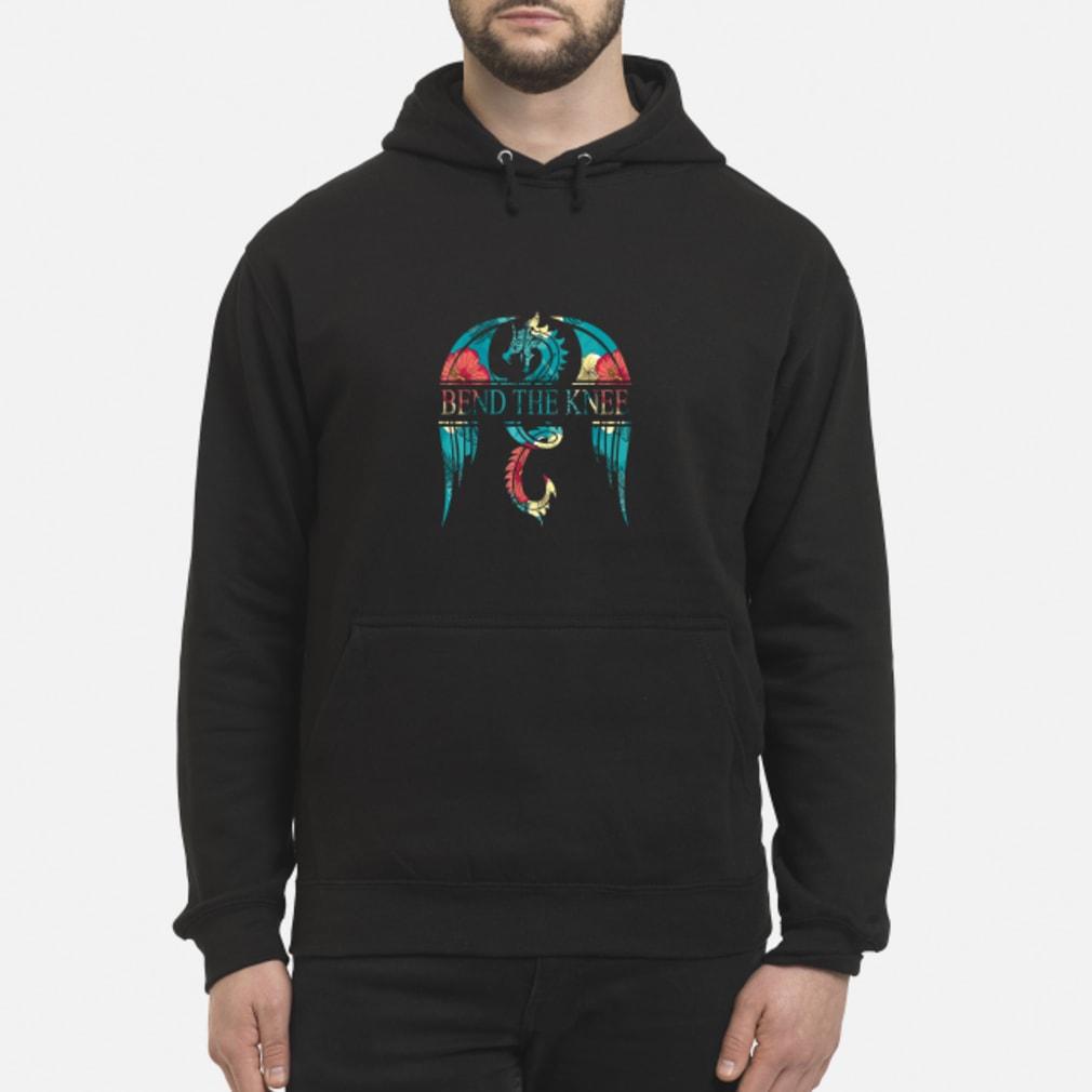 Dragon bend the knee floral shirt hoodie