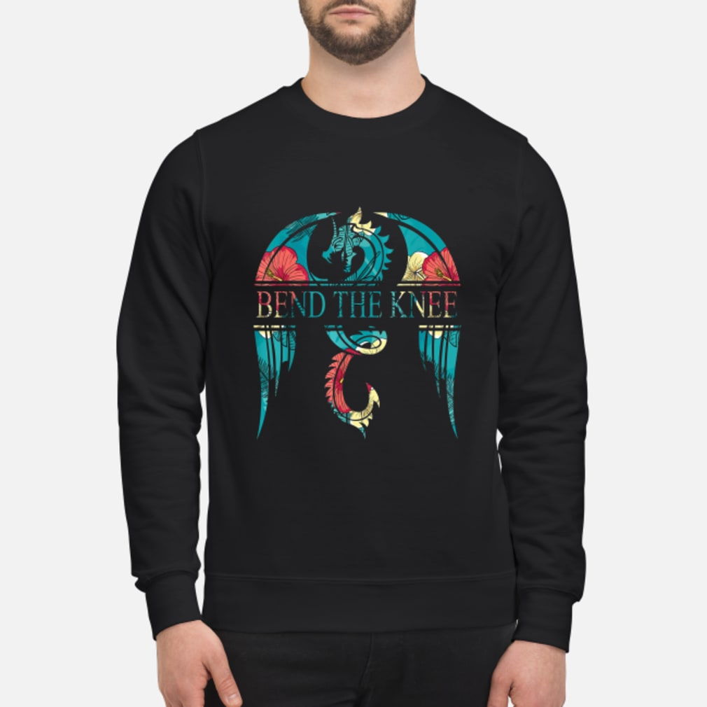 Dragon bend the knee floral shirt sweater