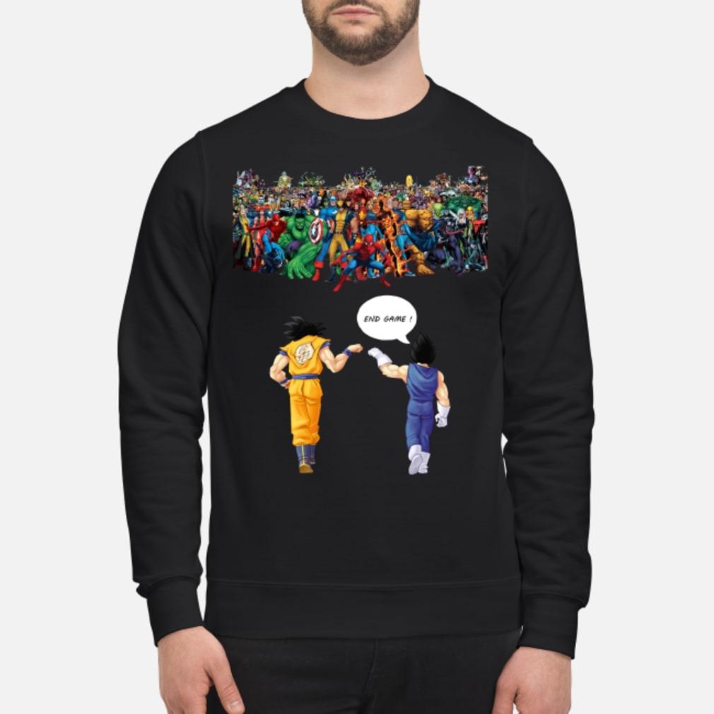 Endgame Goku and Vegeta vs Marvel shirt sweater